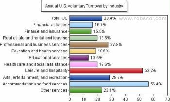 Employee Turnover Rates - Voluntary by Industry (continued) (Sep/05 - Aug/06)